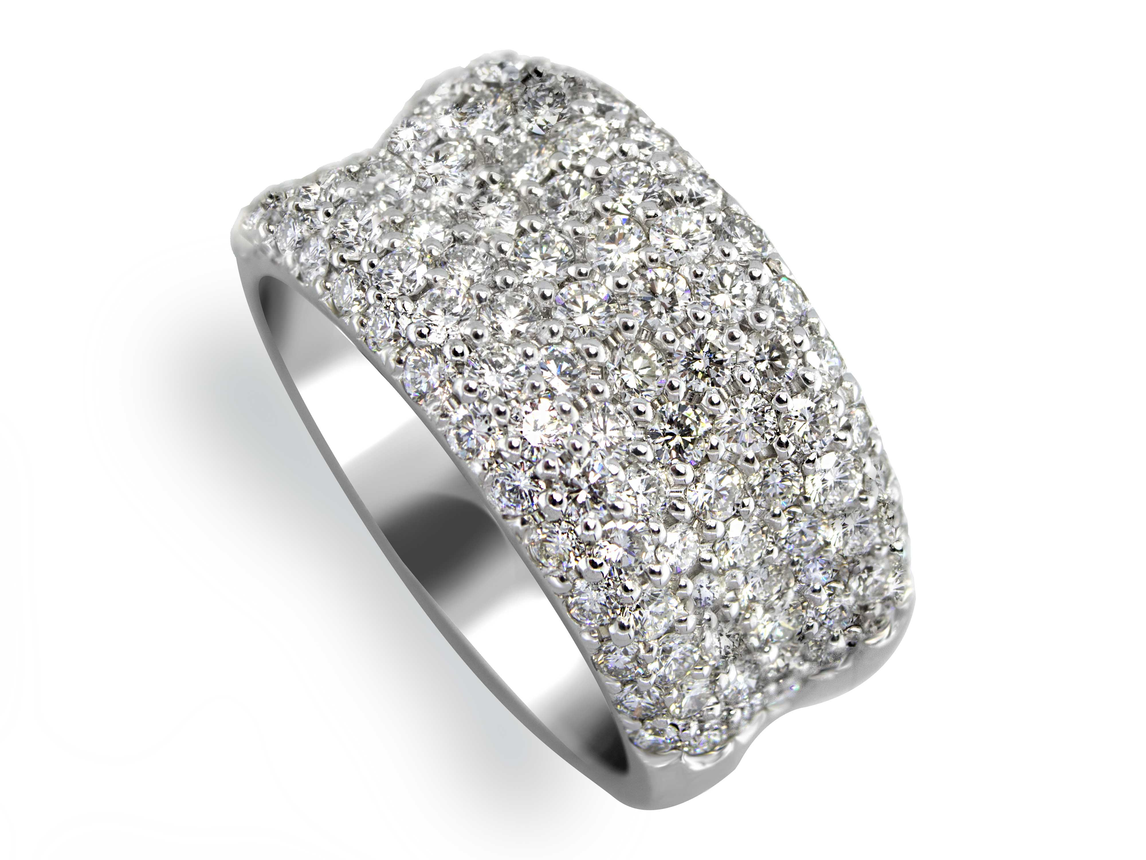 107 Diamonds Ladies Shimmer Ring - Sarkisians Jewelry