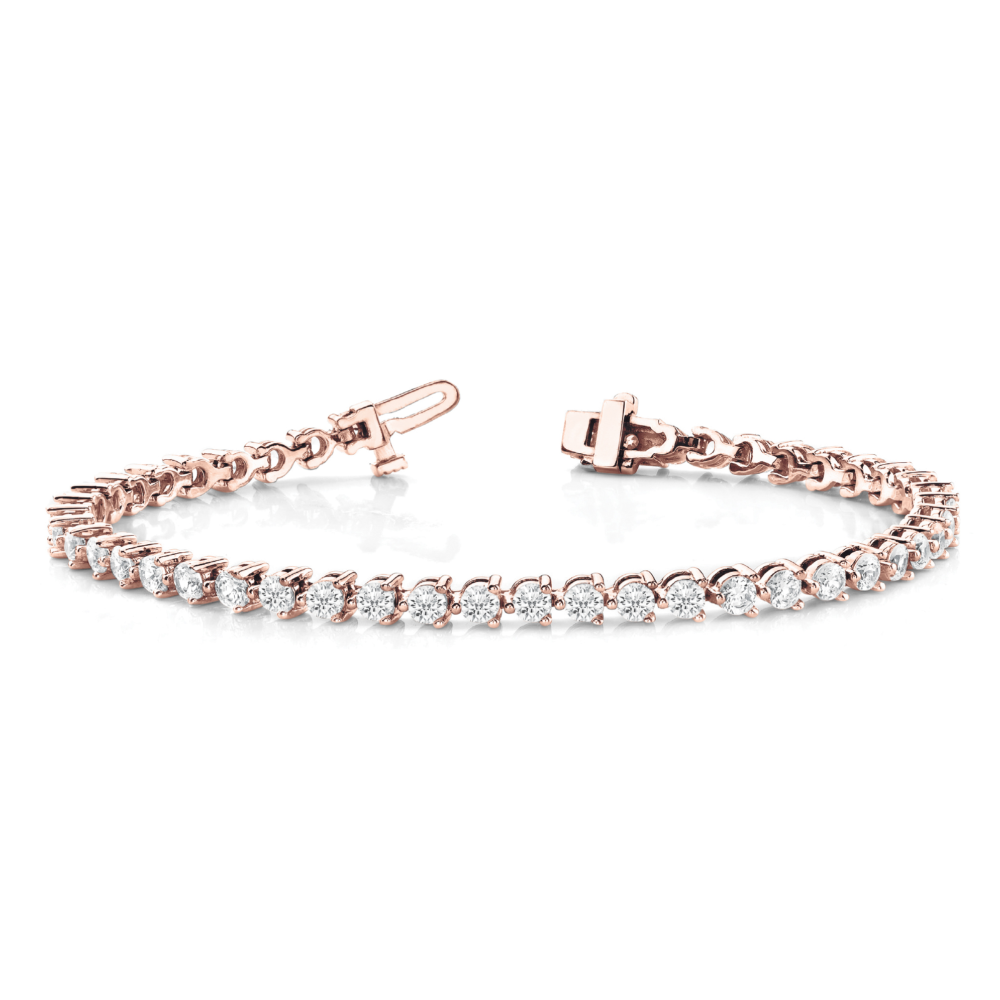 3 G Diamond Tennis Bracelet 1 86 Carats 19 5 Rose Gold Sarkisians Jewelry