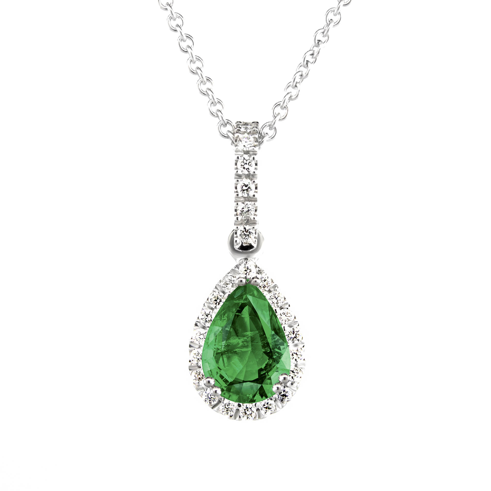 diamond pendant shaped shop pear