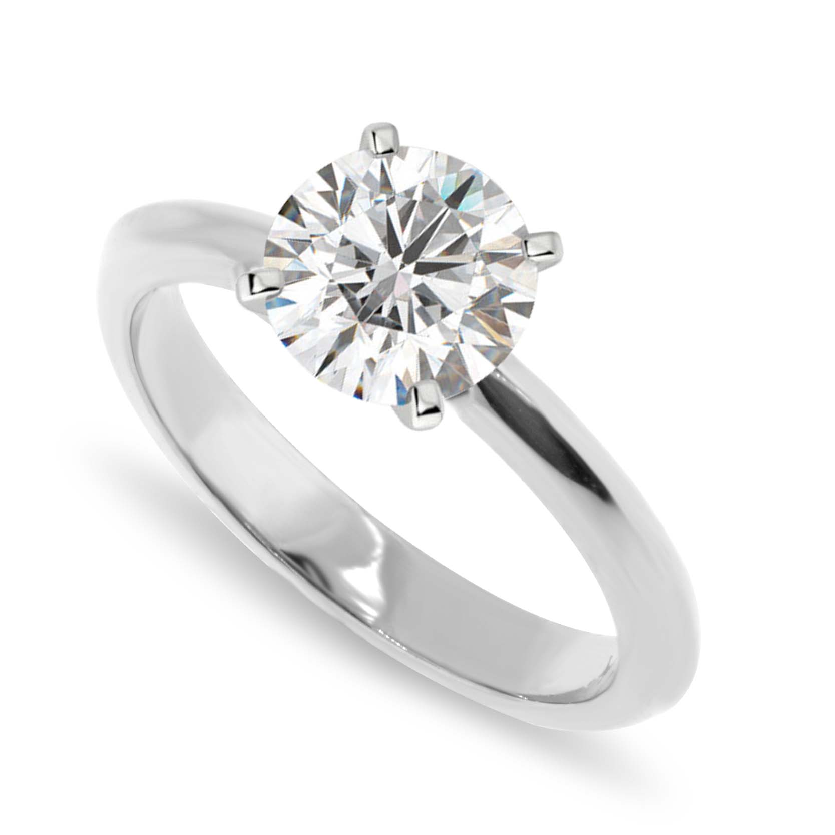 gold rings classic solitaire ring setting engagement diamond in traditional prong white