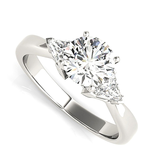 Three Stone Trillion Side Diamonds