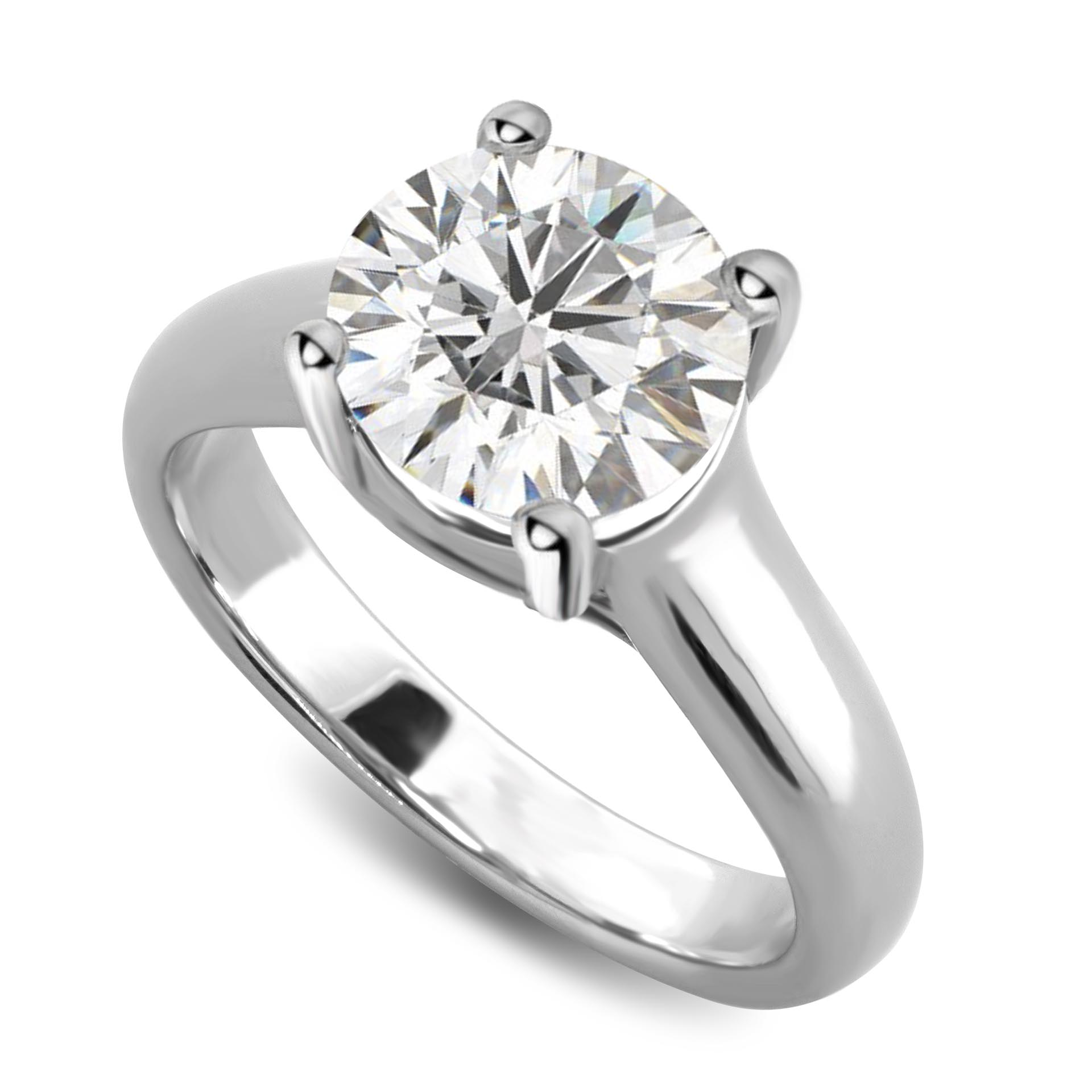 212512147 Lucida Style Solitaire Engagement Ring , Gold or Platinum ...