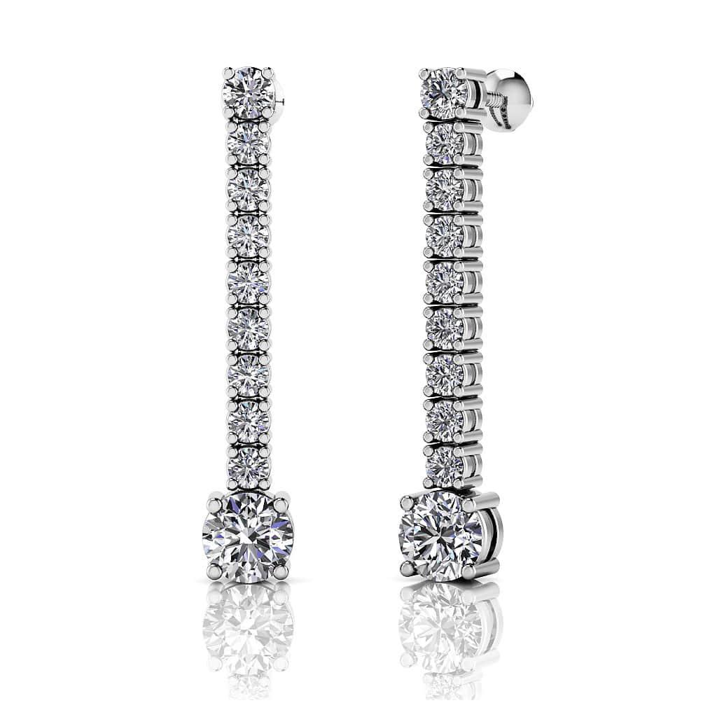 0 97 Carat Twenty Diamonds Dangle Drop Earrings Gold Or Platinum Sarkisians Jewelry