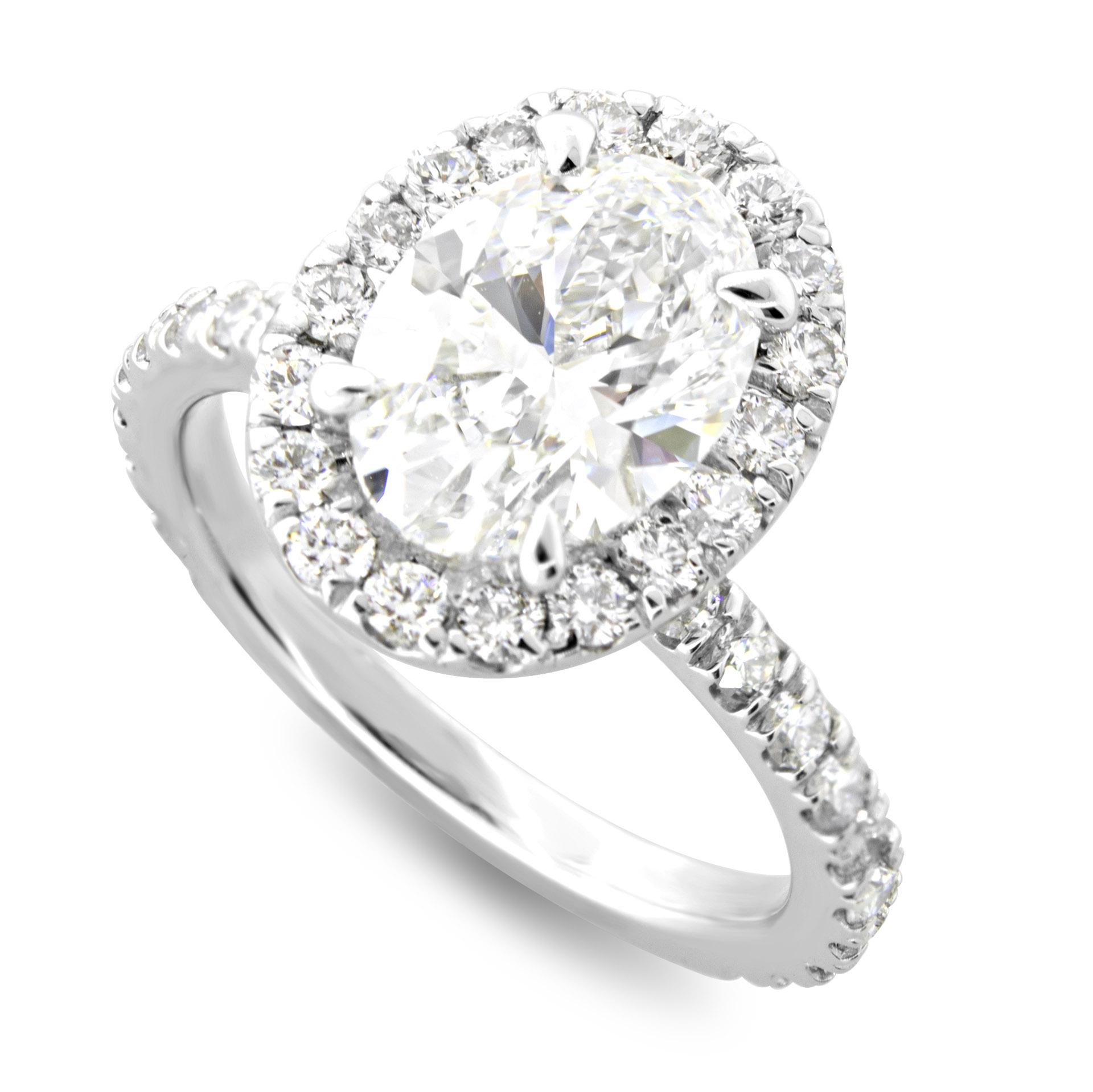 Oval Halo Diamond Engagement Ring Gold Or Platinum Sarkisians Jewelry